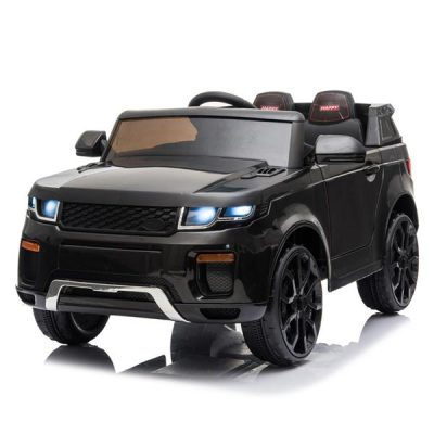 Chargeable Car for Kids 12V Remote Control 2.4GHZ USB LED Lights Black All Products