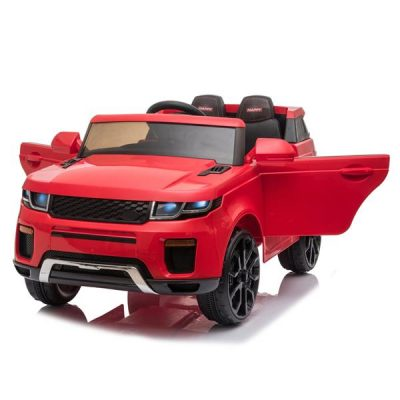 Chargeable Car for Kids 12V Remote Control 2.4GHZ USB LED Lights Red All Products