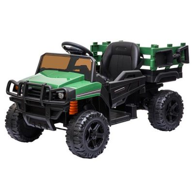 Childrens Car Off Road Vehicle Remote Control LED Lights Music USB 12V 4.5AH Green All Products