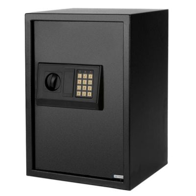 41L E50EA Compact Electronic Battery Operated Safe Box Steel Plate Home Office Use Black All Products