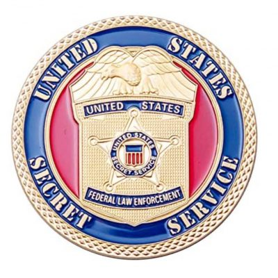 United States Secret Service Gold Plated Commemorative Coin All Products